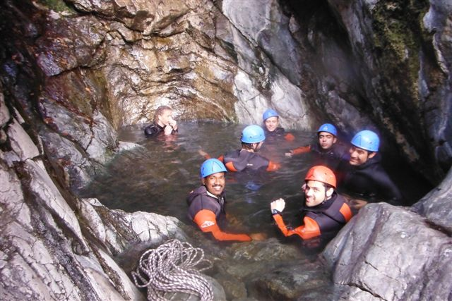 Solar Thermal & Associated Renewable Storage master students @ canyoning