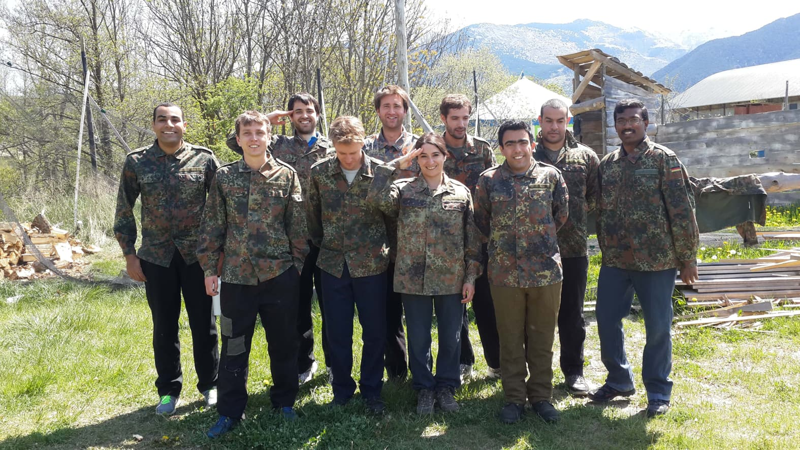 Solar Thermal & Associated Renewable Storage master students @ paintball